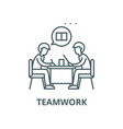 teamwork line icon linear concept outline vector image vector image