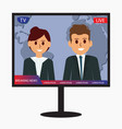 television breaking news design icon vector image vector image