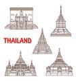 thailand phayao and chiang mai temples vector image vector image