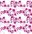 Twig cherry blossoms Seamless vector image vector image