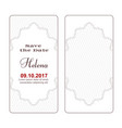 two variants of elegant white vintage banners of vector image vector image