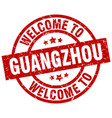 welcome to guangzhou red stamp vector image vector image