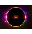 Dark red shining cosmic ring vector image