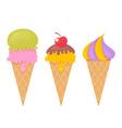 Delicious realistic ice-cream set vector image