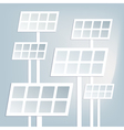 Flat solar battery vector image