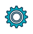 icon gear team work design isolated vector image