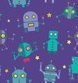 Seamless Robots pattern vector image