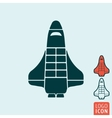 Shuttle icon isolated vector image