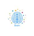 a brain image person vector image