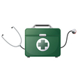 A stethoscope and a medical bag vector image vector image
