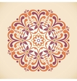 a vintage radial ornament vector image vector image