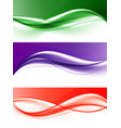 abstract elegant light wavy lines set vector image vector image