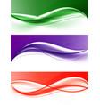 abstract elegant light wavy lines set vector image vector image
