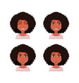 african american woman with different face vector image vector image