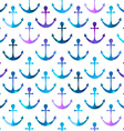 anchor seamless background Retro pattern of vector image vector image