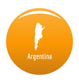 argentina map in black simple vector image