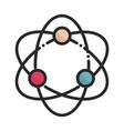 atom molecule science health care medical line and vector image vector image