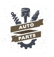 Auto parts hand drawn vector image vector image