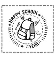 Back to school design typographic quotes vector image