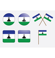 badges with flag of Lesotho vector image vector image