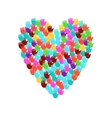 big heart shape filled with hands vector image vector image