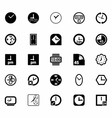 Black Clocks Icon Set vector image vector image