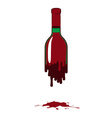 Bottle of red wine vector image vector image