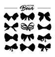 Bows silhouettes hand drawn set
