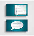 business card with design speak bubble template vector image vector image