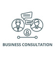 business consultation line icon business vector image vector image