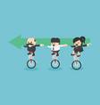 business people team creative idea teamwork vector image