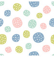 childish seamless pattern with polka dots vector image