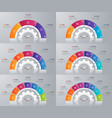 collection of circle chart templates for vector image vector image