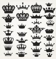 collection royal crowns for design vector image vector image