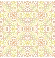 Colorful graphic flower pattern on white vector image vector image