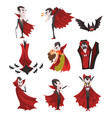 count dracula set vampire cartoon character in vector image vector image