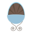 cute baby crib isolated vector image vector image