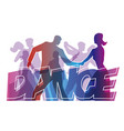 dancing people dance party vector image vector image