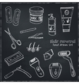 Doodle Set of hair removal tools vector image vector image