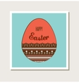 Easter card with decorated egg vector image vector image