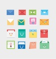 email envelop and bags icons vector image vector image