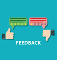 feedback concept design vector image vector image