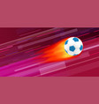 flaming soccer ball on abstract background vector image