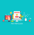 flat modern concept pay per click banner vector image
