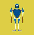 flat shading style icon toy robot vector image