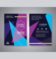 flyer design layout abstract triangle shape vector image vector image