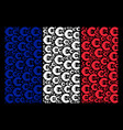 french flag mosaic of euro items vector image