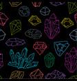 gems pattern on dark vector image
