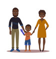 happy family with disabled girl couple and son vector image vector image