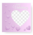happy valentine day blank card paper heart vector image